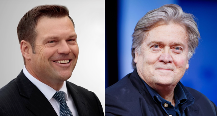 Kris Kobach and Steve Bannon