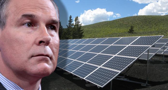 Scott Pruitt with solar energy