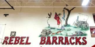 racist mural in South Cumberland Elementary School