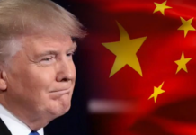 Trump with Chinese flag