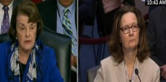 Sen. Dianne Feinstein and Gina Haspel