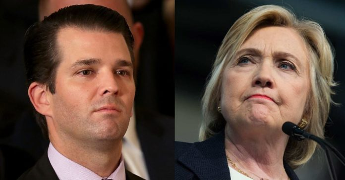 Trump Jr. Hillary Clinton