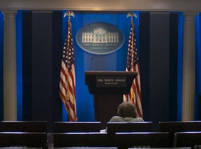 press corps briefing room