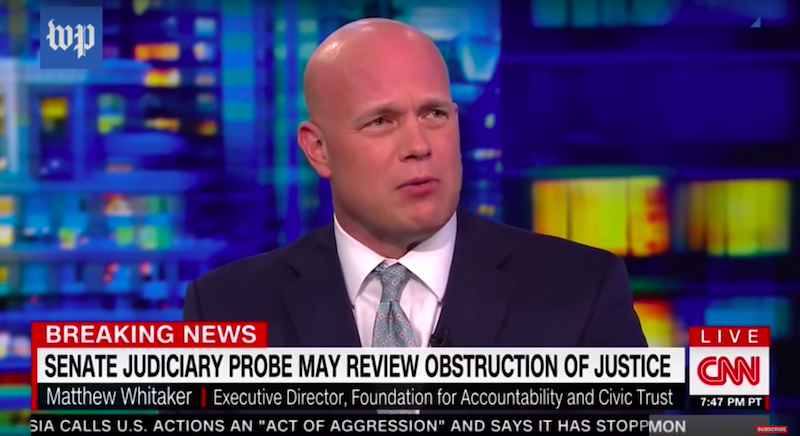 acting ag matthew whitaker lied on r u00e9sum u00e9 and government