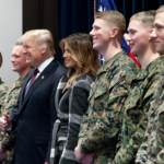 President Donald J. Trump and First Lady Melania Trump Visit the Marine Barracks