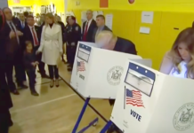 The Trumps on voting day