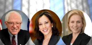 Bernie Sanders, Kamala Harris, Kirsten Gillibrand
