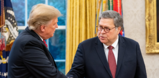 Donald Trump and William Barr