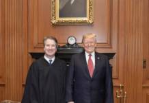 President Donald J. Trump and Supreme Court Justice Brett Kavanaugh via Wikimedia Commons