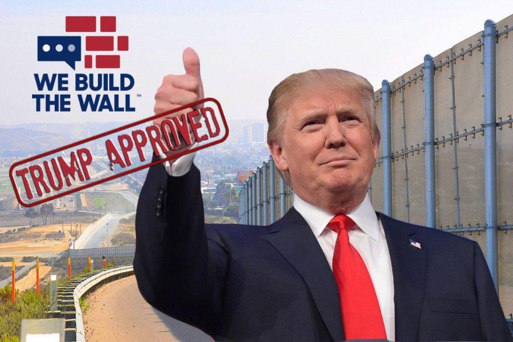 Trump thumb's up on Kolfage GoFundMe