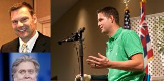 Brian Kolfage, Steve Bannon, Kris Kobach