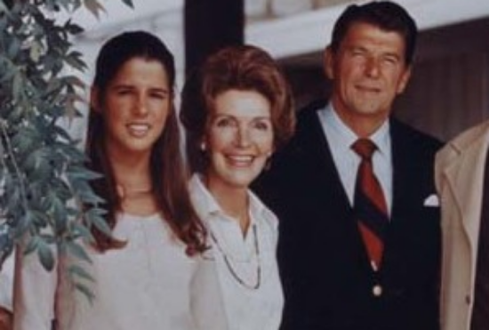 Patti Davis and Ronald Reagan