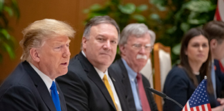 Secretary Pompeo Joins President Trump via Wikimedia Commons