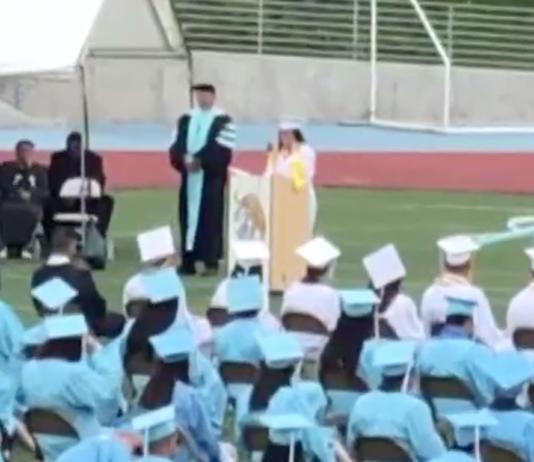 Nataly Buhr gives scathing valedicorian speech at San Diego's San Ysidro High School