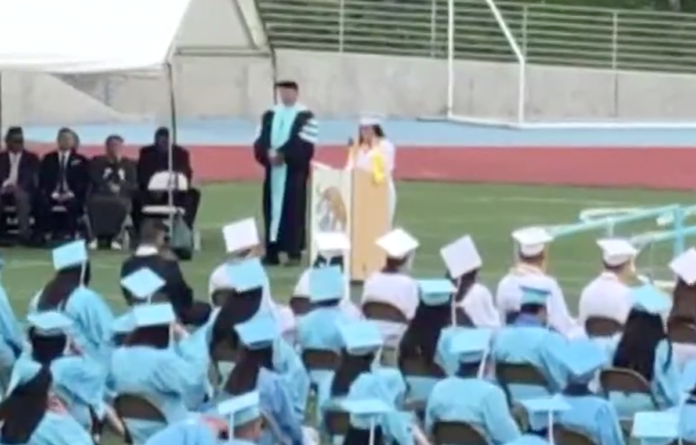 Nataly Buhr gives scathing valedicorian speech at San Diego's San Ysidro High School